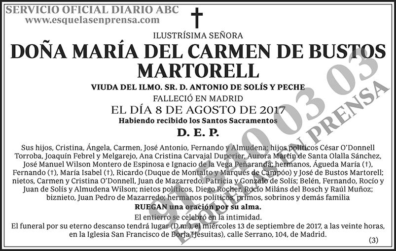 María del Carmen de Bustos Martorell